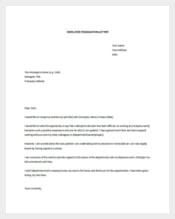 Employee Resignation letter