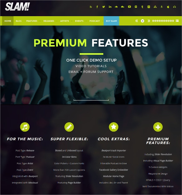 Music Band, Musician And Dj WordPress Website Theme $59