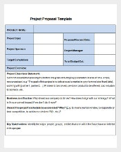 New Project Proposal Template Free Download