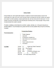 Free Science Project Outline Template Word Doc Download