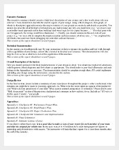 Executive Project Summary Template