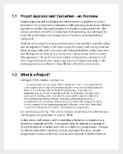 Project Appraisal and Evaluation Template