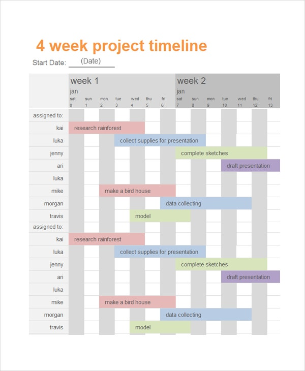 project timeline template1