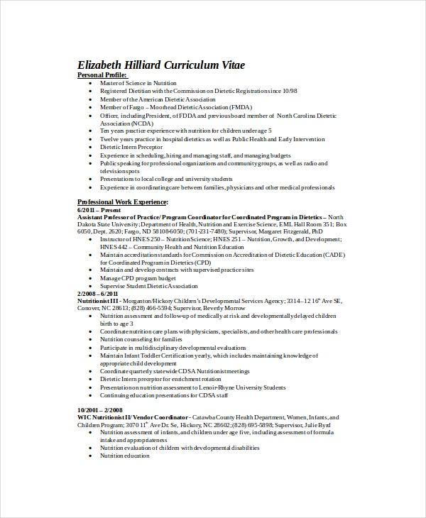 Registered-Dietitian-Resume