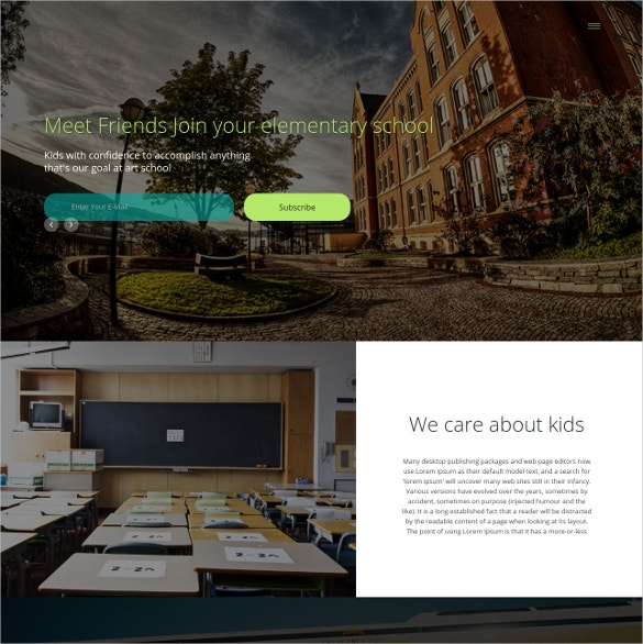 Art School Responsive Website Theme $12
