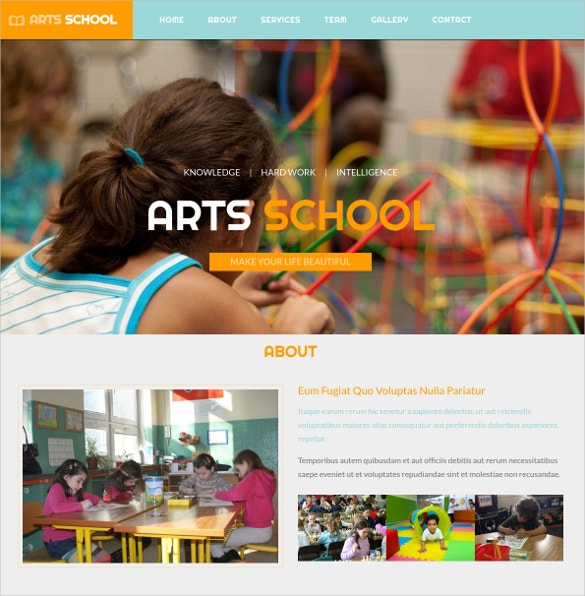 Arts School Educational Bootstrap Website Theme