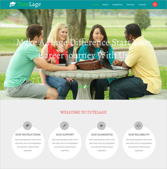 School Bootstrap Responsive website Template