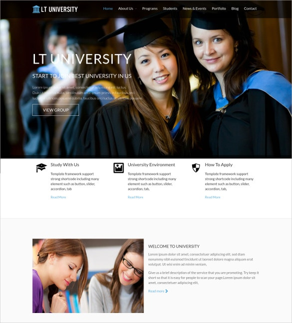 School & University WordPress Website Theme $29
