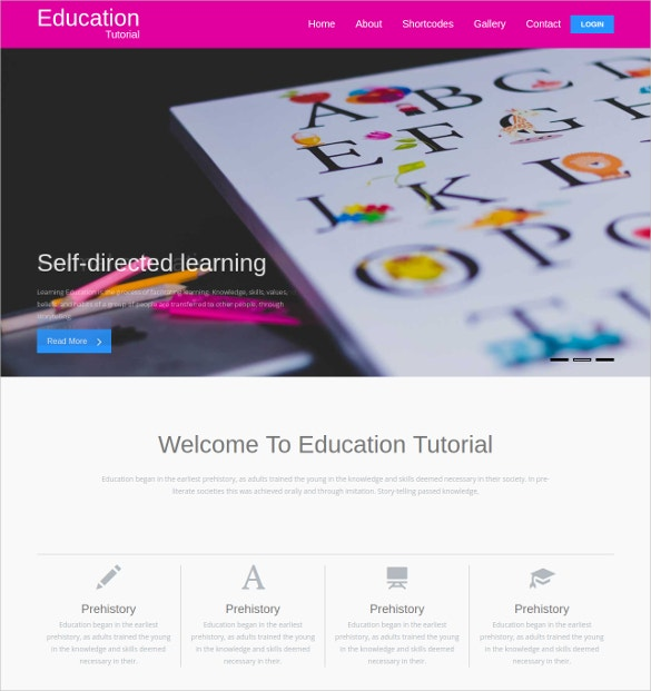 Educational & School Bootstrap Responsive webSiteTemplate