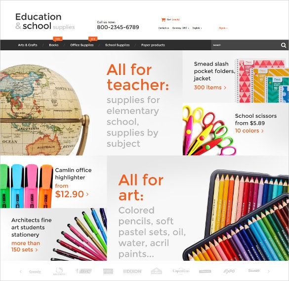 Education School PrestaShop Website Theme $139