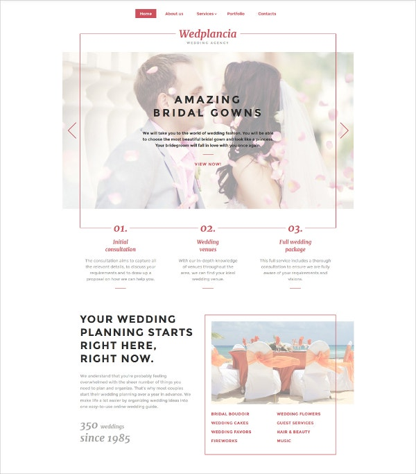 Wedplancia HTML5 Website Template