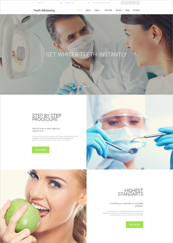 Dentistry Responsive Moto CMS 3 HTML5 Template