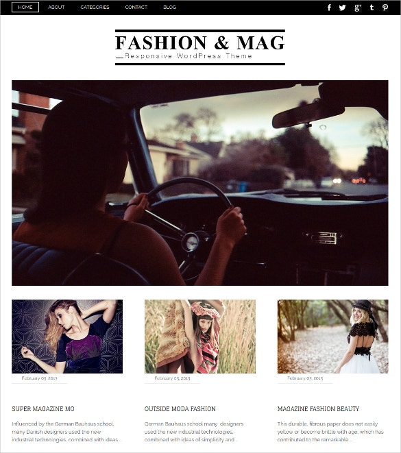 Premium Responsive Fashion Website Template