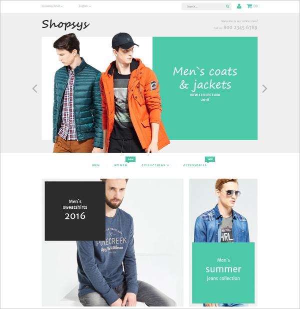 Designer Clothing Magento HTML5 Theme