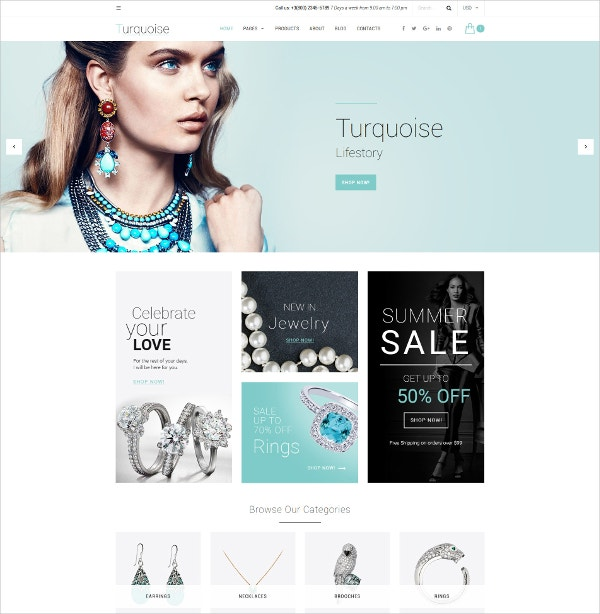 Turquoise HTML5 Website Template