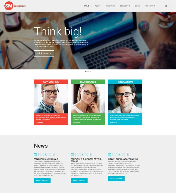 Consulting HTML5 Website Template