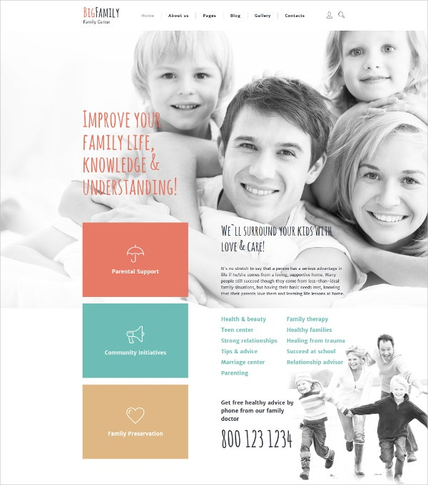 Big Family Joomla HTML5 Template