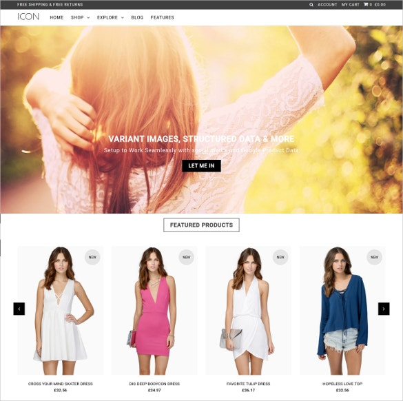 unique fashion website template 140