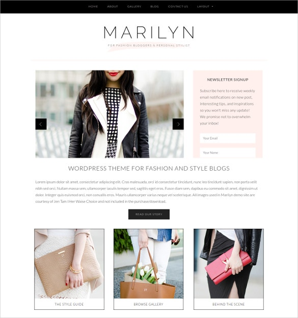Beautiful Fashion WordPress Website Template $79