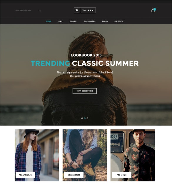 WooCommerce Responsive Fashion Website Theme $59