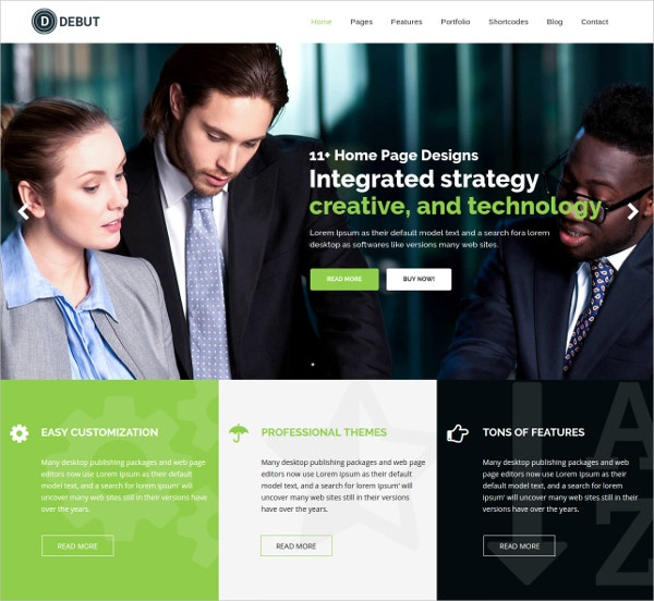 Multi-Purpose Responsive HTML5 Template