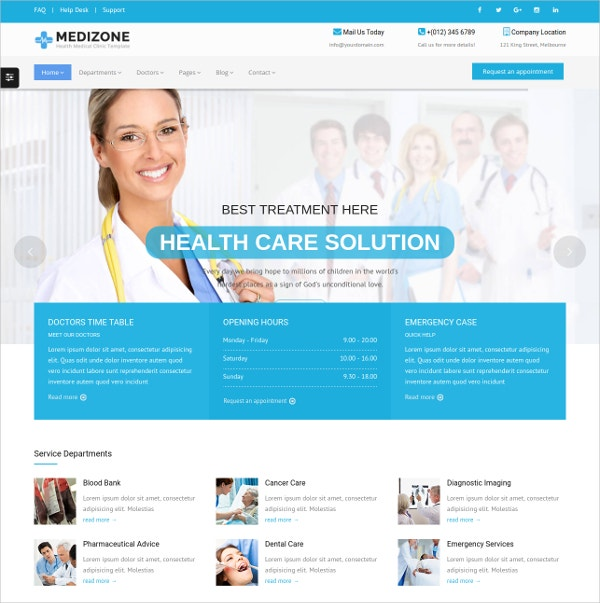 Medical Responsive HTML5 Template