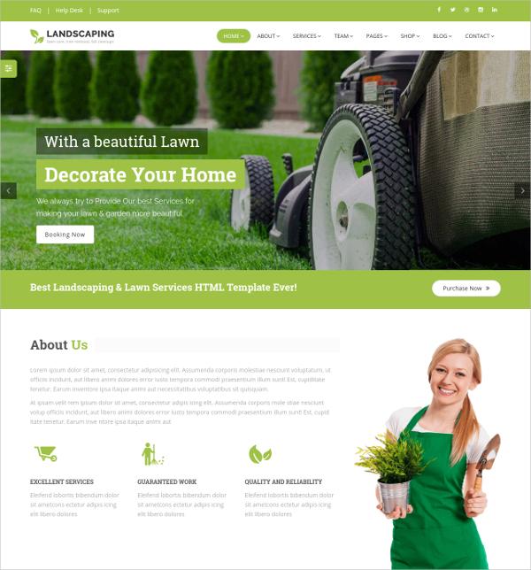 Landscape HTML5 Template