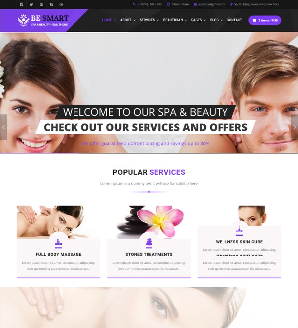 Spa & Beauty Responsive HTML5 Template