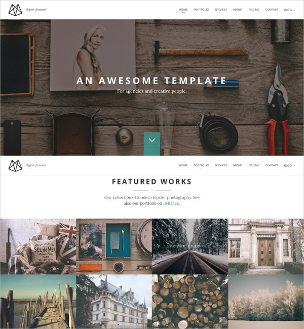One-Page Portfolio HTML5 Template