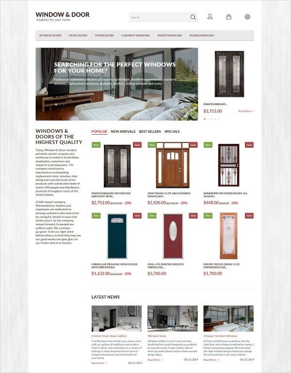 Window Door PrestaShop Blog Theme