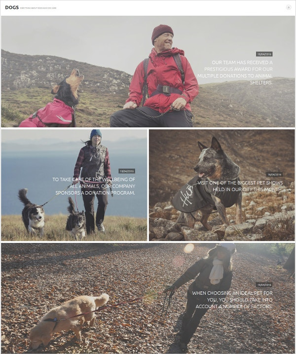 Dogs Joomla Blog Template