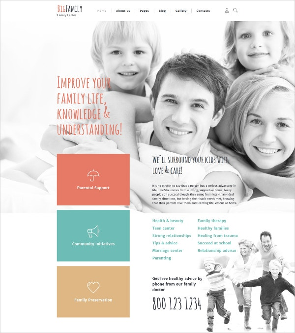 Big Family Joomla Blog Template