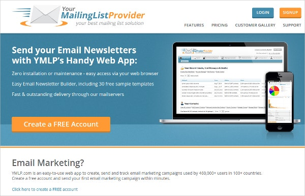 ymlp your mail list provider