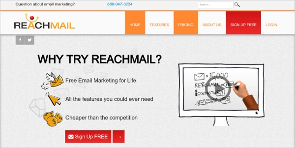 reachmail free email marketing software