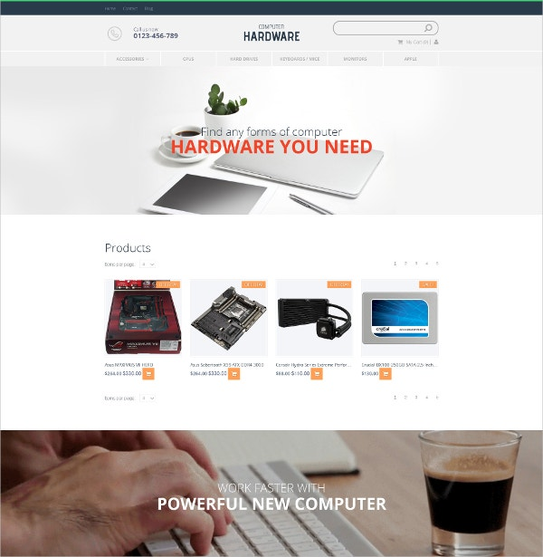 Computer Store MotoCMS Ecommerce Blog Template