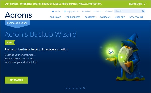 Acronis Server Backup Wizard Tool