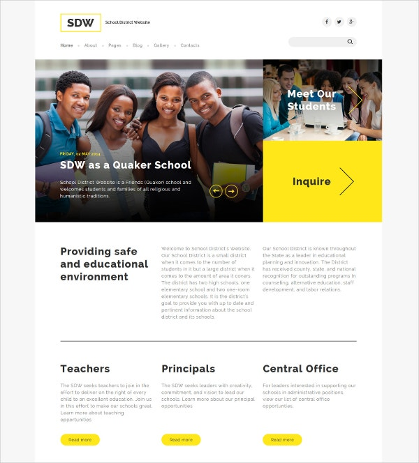 Education Joomla Blog Template