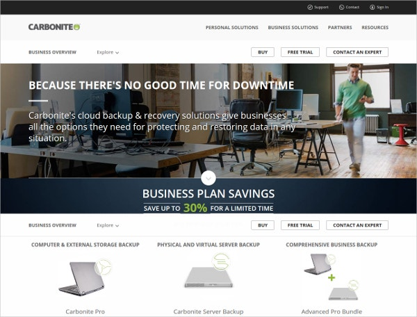 Carbonite Business Server Online Backup Tool
