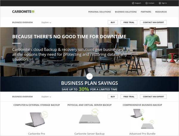 carbonite business server online backup tool