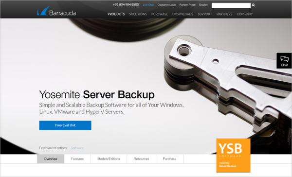 barracuda yosemite server backup