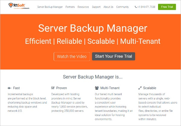 R1Soft Server Backup Manager