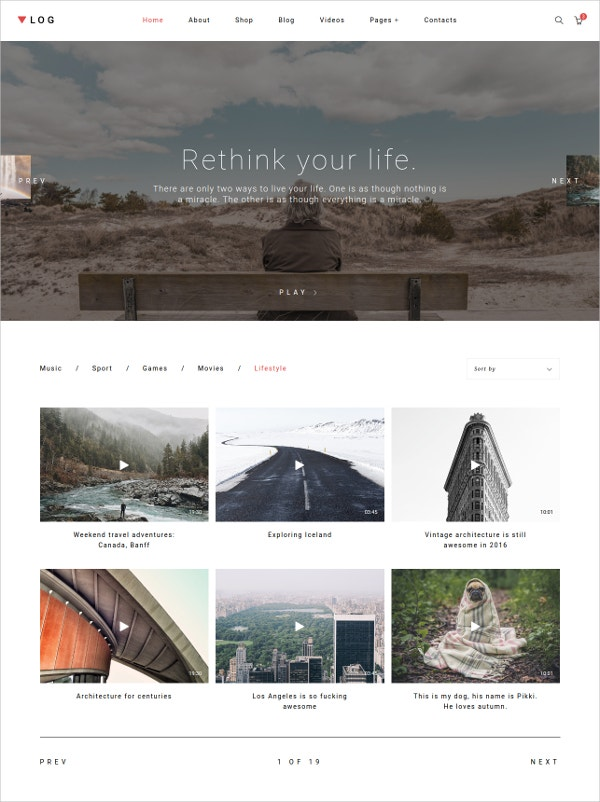 Personal Life Blog Template