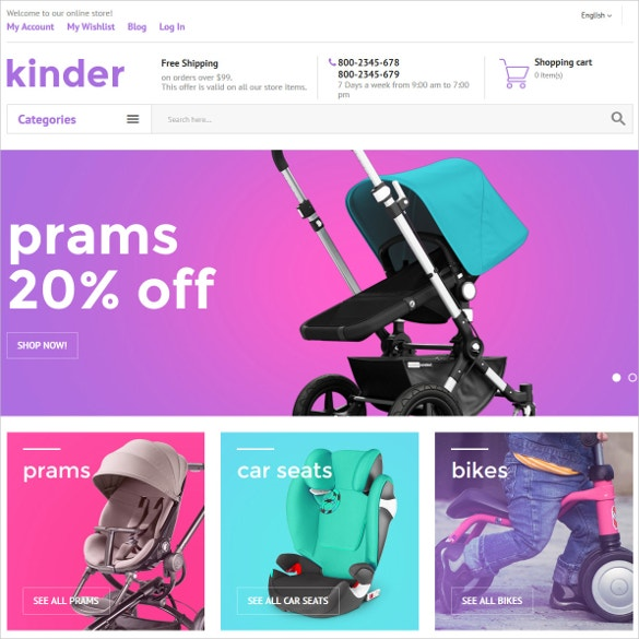 Kinder Boutique Magento Website Theme $179