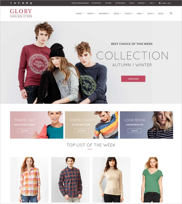 Magento Theme Multistyles Boutique Website $84