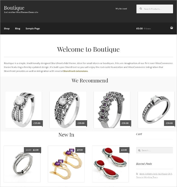 Traditional Boutique Website Theme