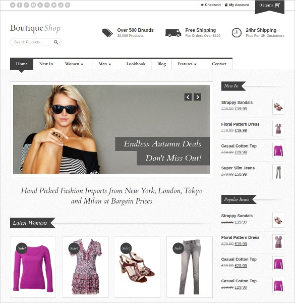 Premium Boutique WooCommerce Website Theme $58