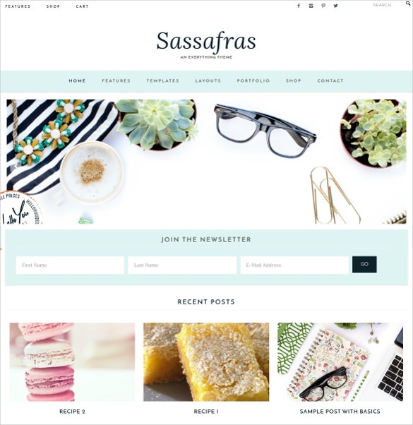 Feminine Boutique WordPress Website Theme $75