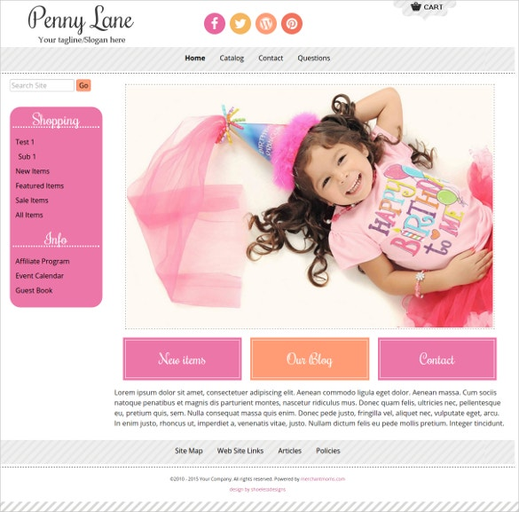 Boutique Children Clothing Website Template