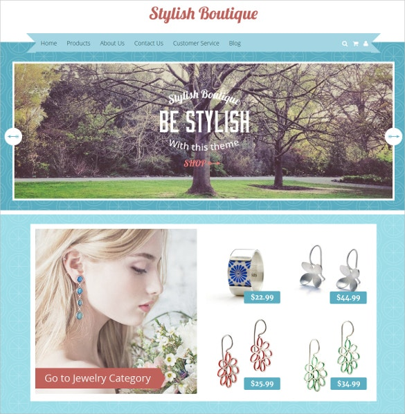 Free Stylish Boutique Website Template