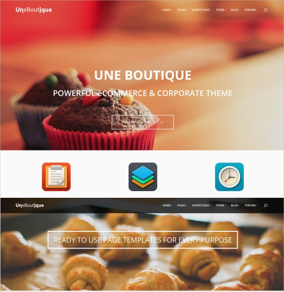 boutique ecommerce corporate website theme 64